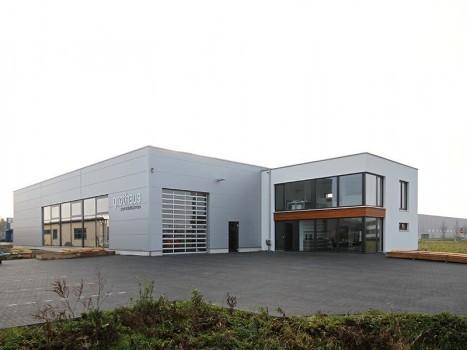 Neubau einer Fertigungshalle für Pendeltüren mit Verwaltung