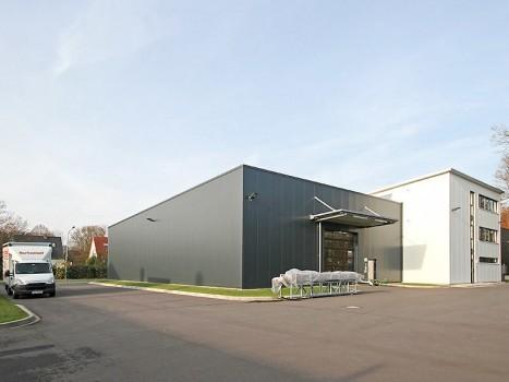Neubau Produktionshalle mit Ausstellung