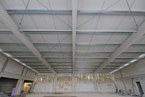 Eine Trainingshalle für Blau-Weiß Hollage