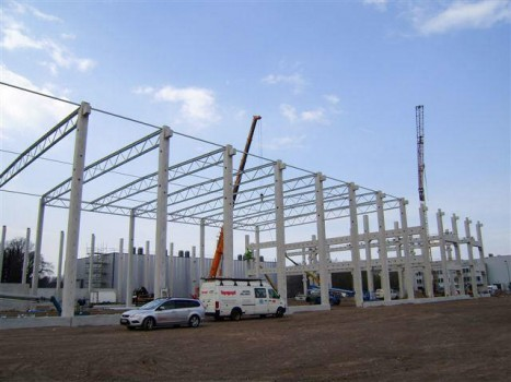 Neubau Lager- und Verwaltungsgebäude Modul HP
