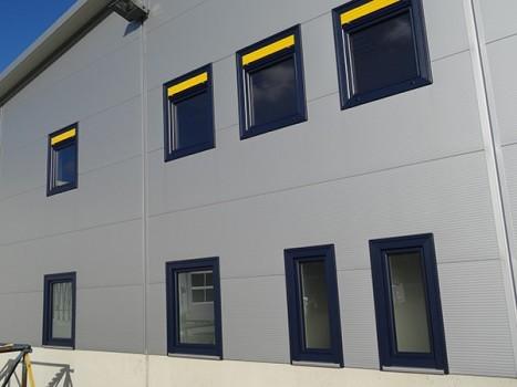 Neubau Fertigungshalle für Fenster mit Lagerung und Auslieferung
