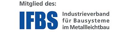 Mitglied im Industrieverband für Bausysteme im Metallleichtbau, kurz IFBS.